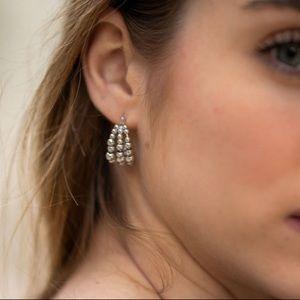 Layer beads earrings